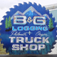 B&G Logging Truck Stop sign